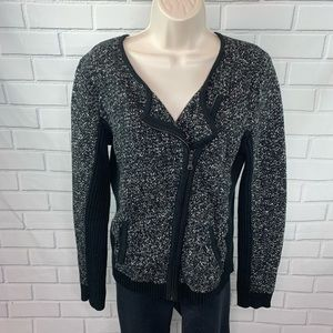 Loft black and white tweed Moro blazer jacket M